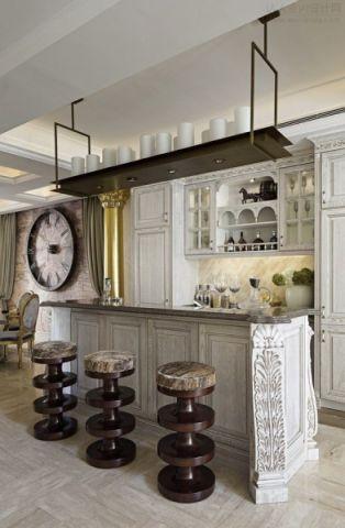 厨房背景墙法式风格装饰图片