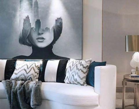紫玉府邸现代公寓效果图