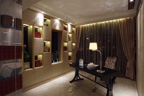 书房博古架欧式风格装潢设计图片