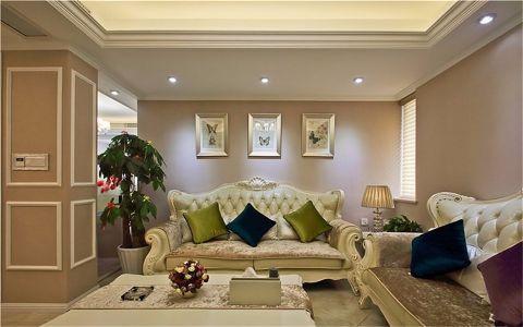 客厅窗台欧式风格装潢设计图片