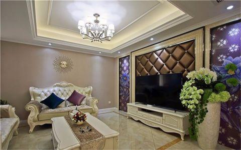 客厅背景墙欧式风格效果图