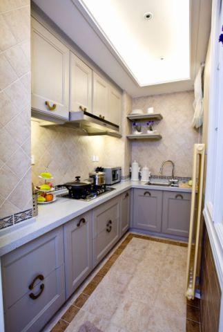 厨房灰色橱柜地中海风格装修效果图