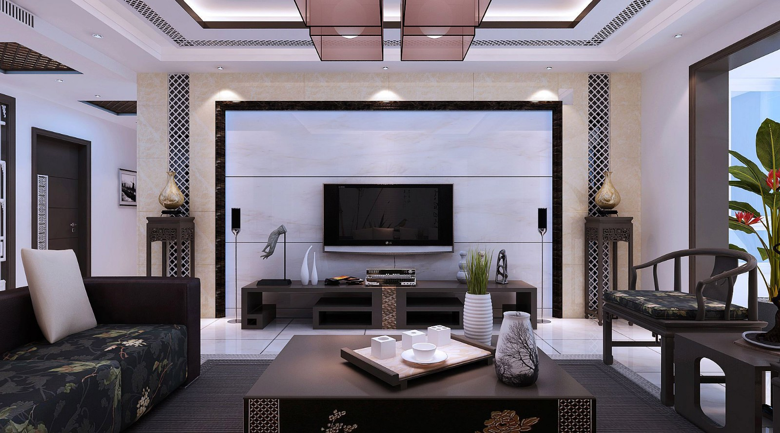 2室1卫1厅90平米现代中式风格