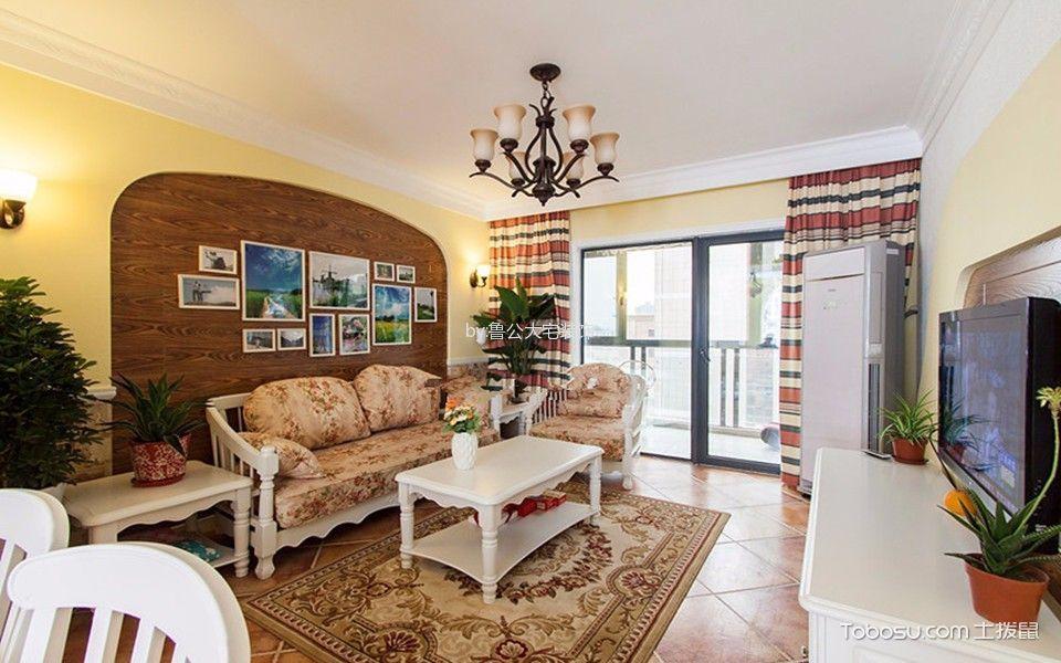 美式风格156平米三室两厅新房装修效果图