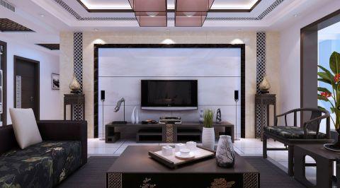 辰兴·优山美郡两居室现代中式风格效果图