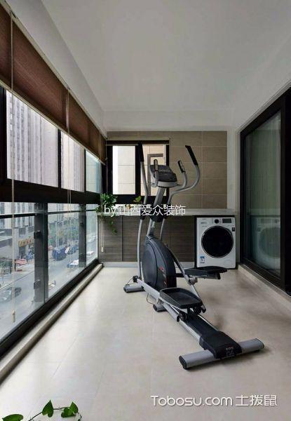 阳台 地砖_美式风格150平米三室两厅室内装修效果图