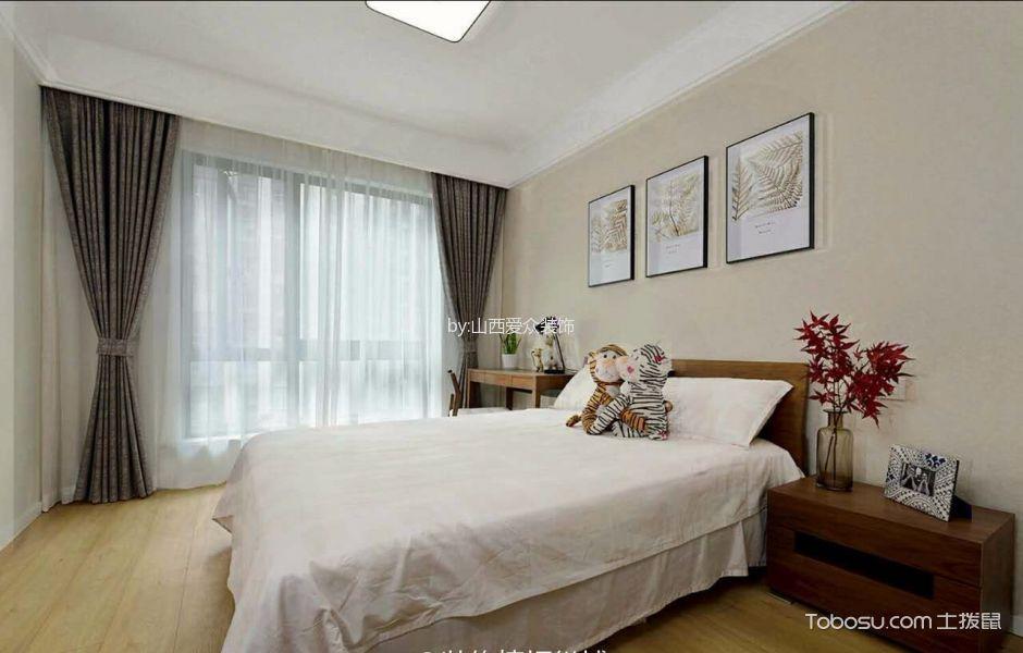 卧室米色照片墙美式风格装潢效果图