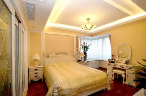 卧室白色床头柜欧式风格装饰图片