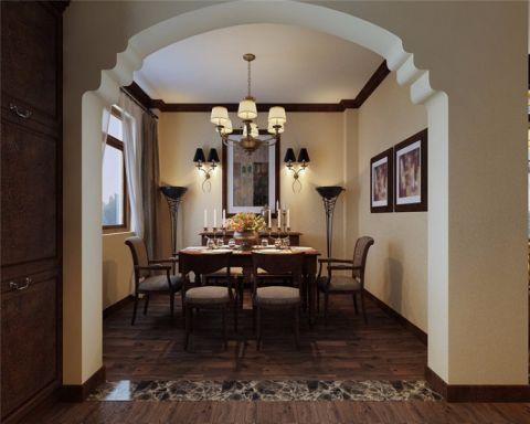 禹洲天境美式风格三居室装修效果图