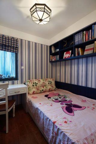 儿童房白色榻榻米地中海风格装饰效果图