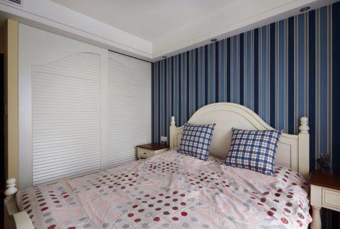 卧室白色床地中海风格装潢效果图