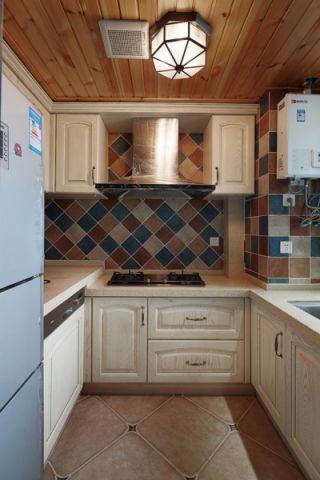 厨房白色橱柜地中海风格装饰图片