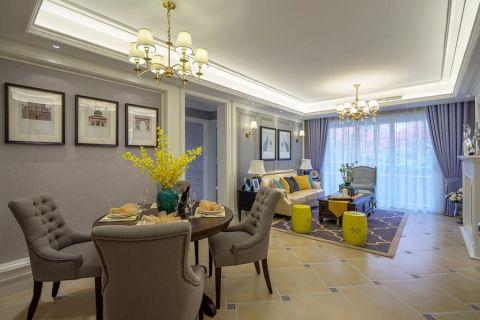 高运莱茵传奇素净美式三居室效果图