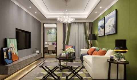 紫金名门现代二居室效果图