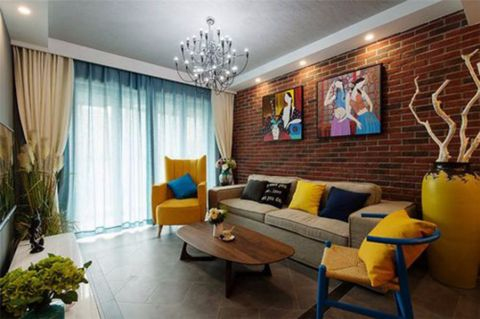今日丽舍日式风格二居室效果图