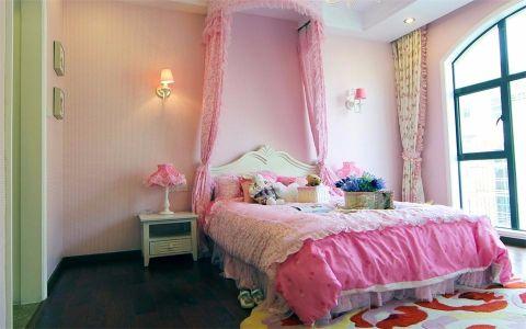 卧室白色床地中海风格效果图