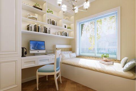 2018美式90平米效果图 2018美式三居室装修设计图片