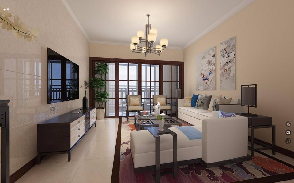 4室2卫2厅120平米新中式风格