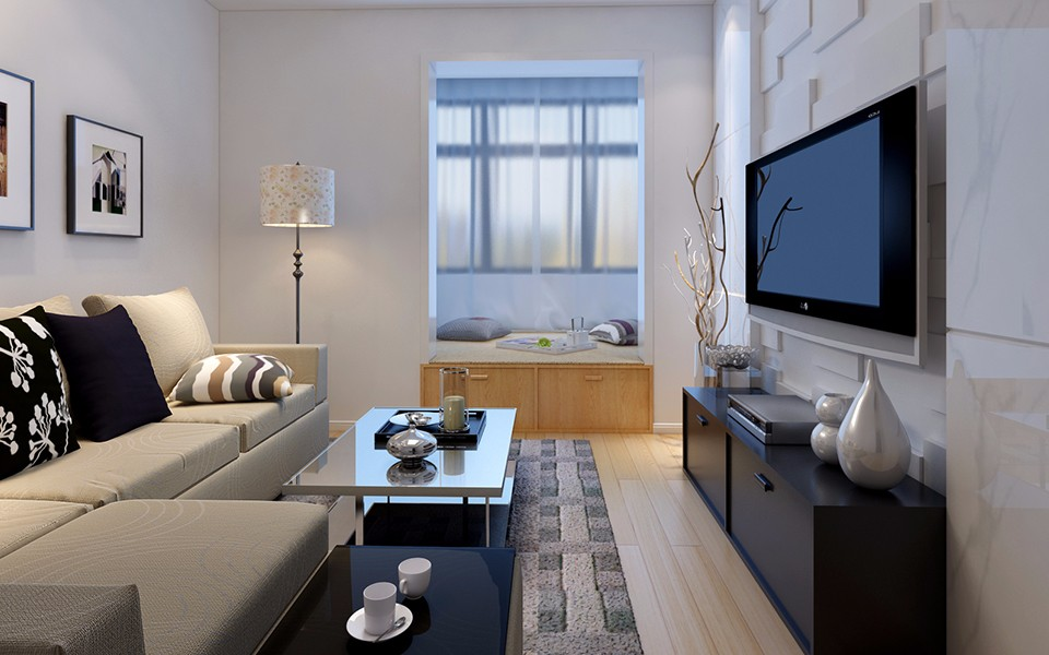 2室1卫1厅88平米现代简约风格