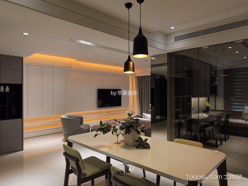 餐厅黄色餐桌现代简约风格装饰设计图片