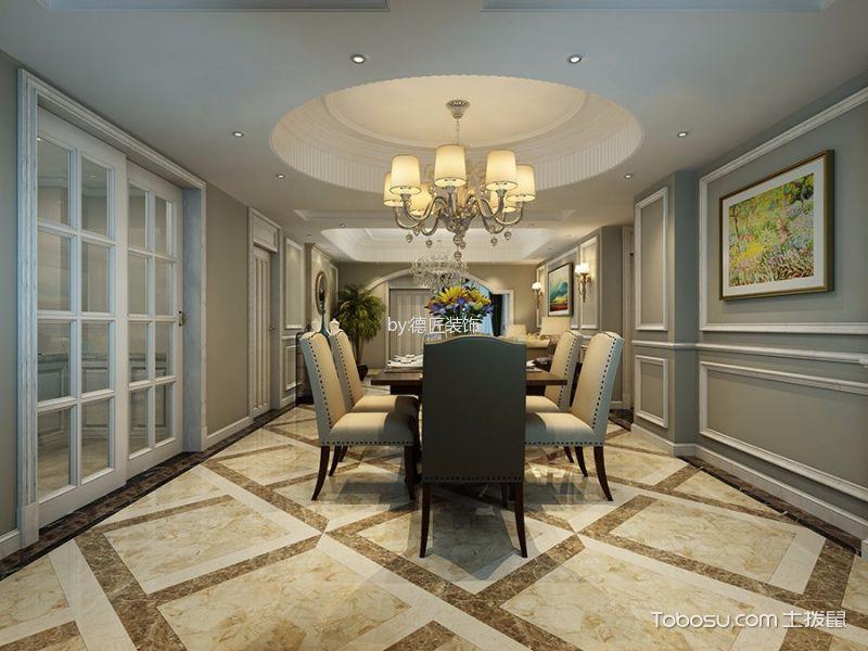 绿地欧式三室两厅198平装修效果图
