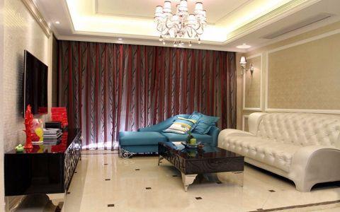 欧式风格110平米小户型室内装修效果图