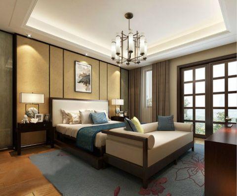 2021新中式120平米装修效果图片 2021新中式三居室装修设计图片