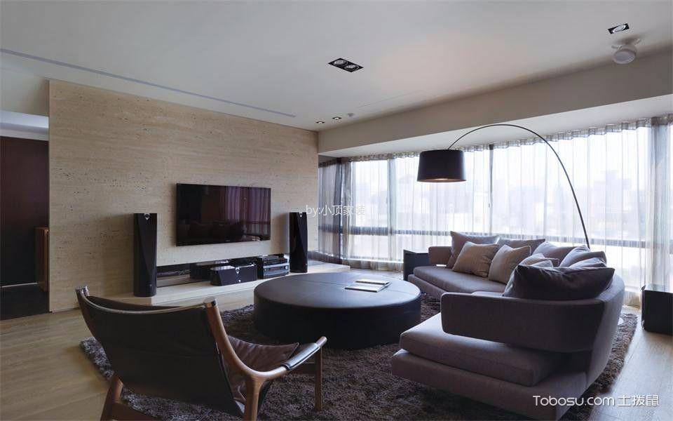 现代客厅茶几装潢效果图