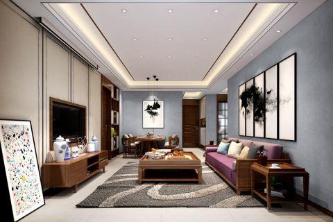 禹洲翡翠湖郡日式风格三居室装修效果图