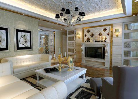北京公园220平四室两厅欧式风格效果图