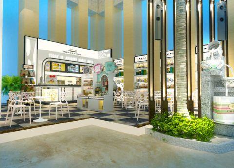百年汇150平米现代风格咖啡厅装修效果图
