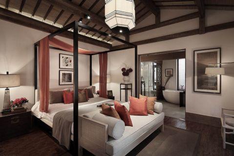 新中式风格700平米别墅室内装修效果图