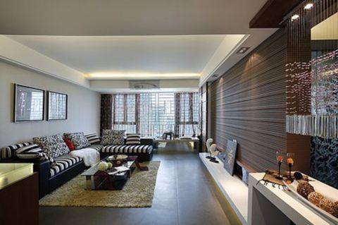 洛涛南区简约风格三居室效果图