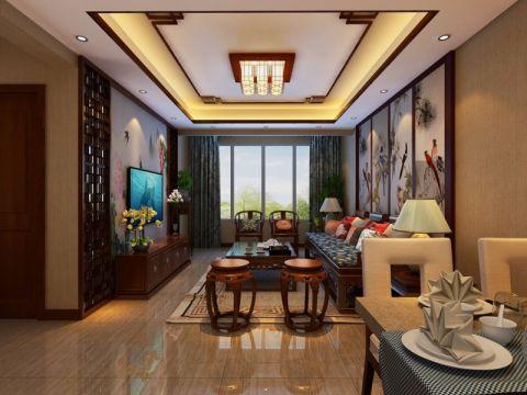 兰亭御湖城90平米中式装修案例图