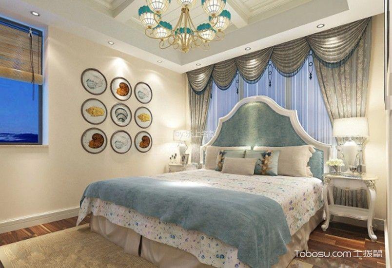 玉兰湾120平米地中海风格两室一厅装修效果图