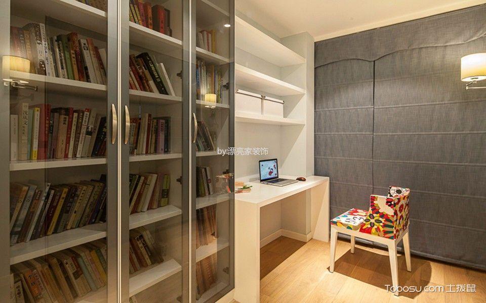 书房白色书桌现代风格装饰图片