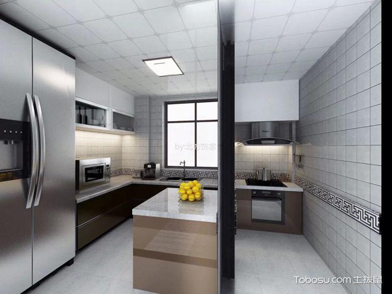 厨房 吊顶_新中式风格130平米三室两厅室内装修效果图