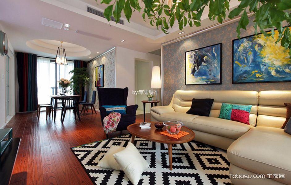 客厅 门厅_华元欢乐城现代简约三居室效果图