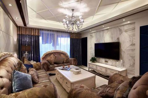 2019欧式120平米装修效果图片 2019欧式三居室装修设计图片