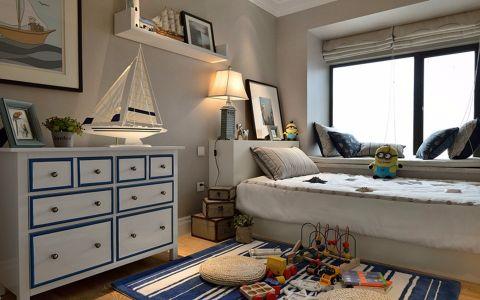 卧室白色榻榻米美式风格装修设计图片