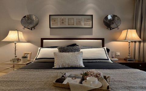 卧室白色床美式风格装潢设计图片