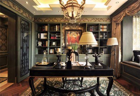 书房吊顶古典风格装修设计图片