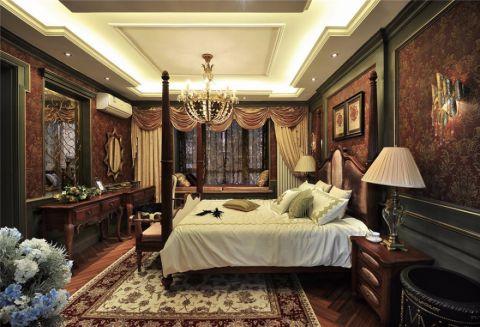 卧室背景墙古典风格装饰设计图片