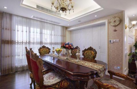 餐厅窗帘美式风格装饰图片
