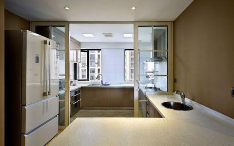 厨房白色推拉门现代风格装饰图片