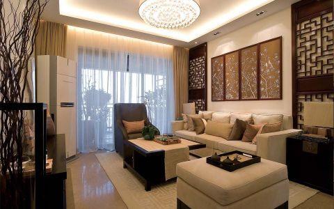 路劲城120平米新中式风格LOFT公寓效果图