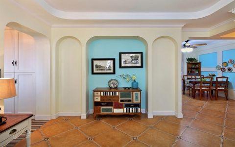 玄关背景墙美式风格装修图片