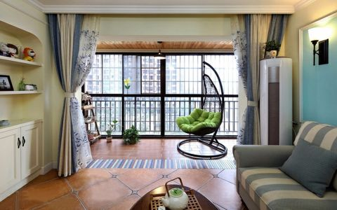 阳台美式风格装饰图片