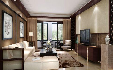 星河国际160平米新中式风格LOFT公寓装修效果图