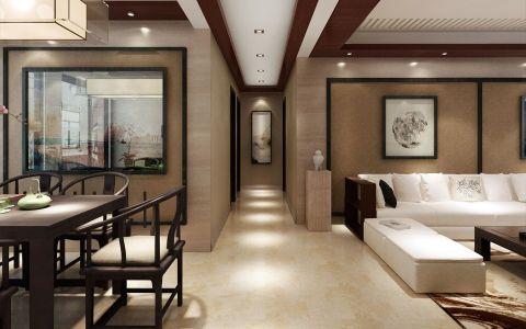 客厅走廊新中式风格效果图